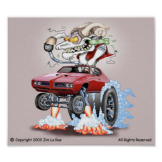 Poster del monstruo de Goatoon