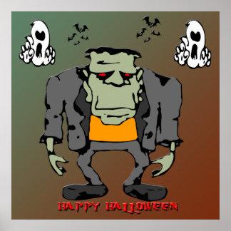 Poster del monstruo de Halloween