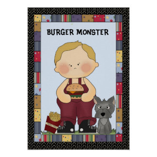 Poster del monstruo de la hamburguesa