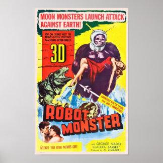 Poster del monstruo del robot