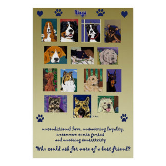 Poster del montaje del perro