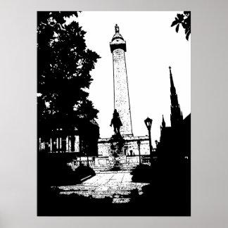Poster del monumento de Baltimore Washington