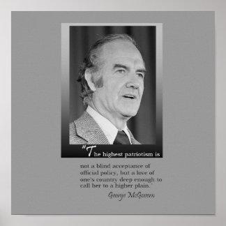 Poster del monumento de George McGovern
