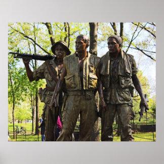 Poster del monumento de guerra de Vietnam