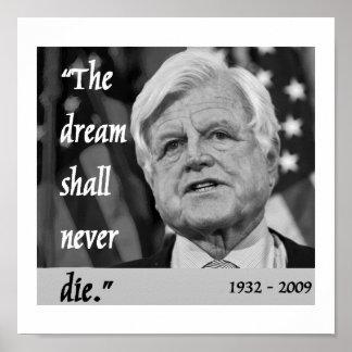 poster del monumento de ted Kennedy