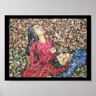 Poster del mosaico de Romeo y de Juliet