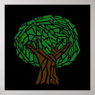Poster del mosaico del árbol