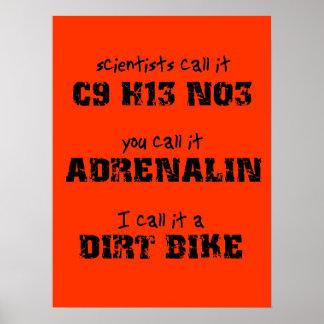 Poster del motocrós de la adrenalina de la bici de