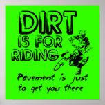 Poster del motocrós de la bici de la suciedad del