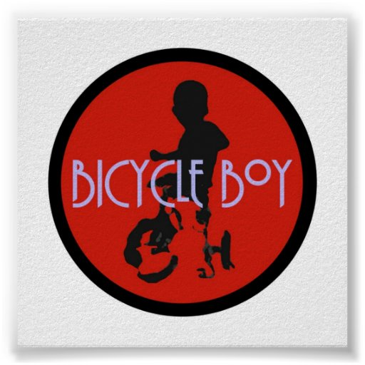Poster del muchacho de la bicicleta