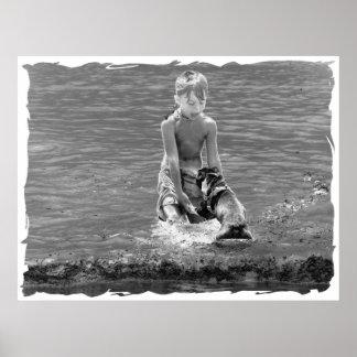 Poster del muchacho de la playa