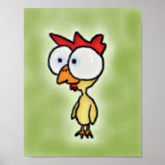 Poster del muchacho del gallo