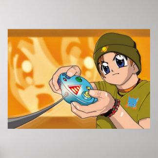 Poster del muchacho del videojugador