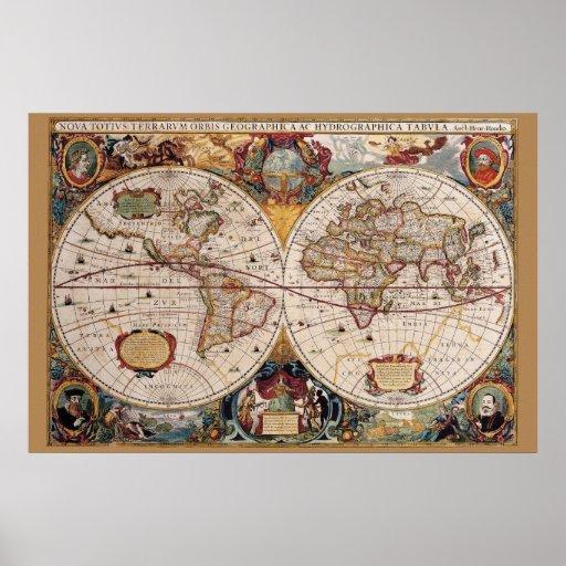 Poster del mundo 36 x 24 de Olde