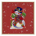 Poster del muñeco de nieve del navidad