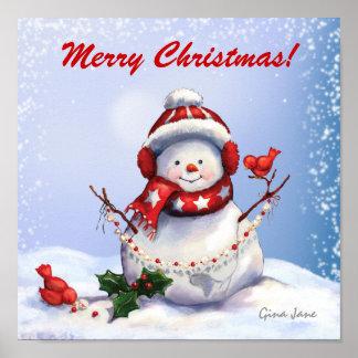 Poster del muñeco de nieve del navidad - SRF