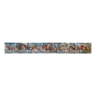 Poster del mural de los peregrinos de Cantorbery