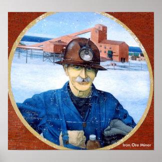 Poster del mural del minero de Terranova Póster