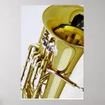 Poster del músico de banda de Souasphone de la tub
