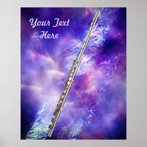 Poster del músico de la flauta o del flautista