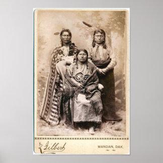 Poster del nativo americano del vintage