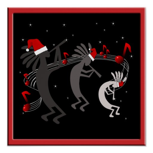 Poster del navidad de Kokopelli