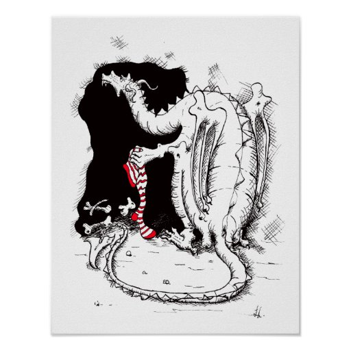 Poster del navidad del dragón póster