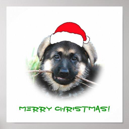 Poster del navidad del perrito