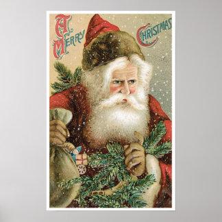 Poster del navidad del vintage