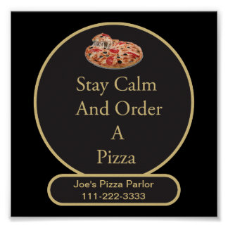 Poster del negocio de la pizza