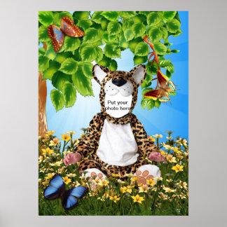 Poster del niño del leopardo póster