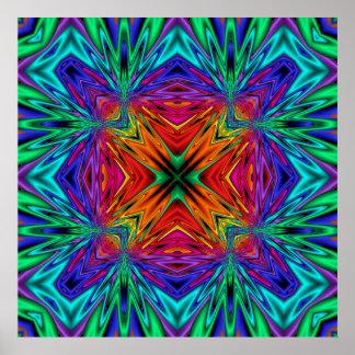 Poster del No1 del fractal de Kreations del caleid