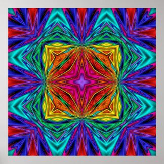Poster del No3 del fractal de Kreations del caleid
