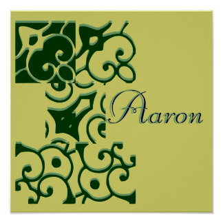 Poster del nombre del diseñador de Aaron