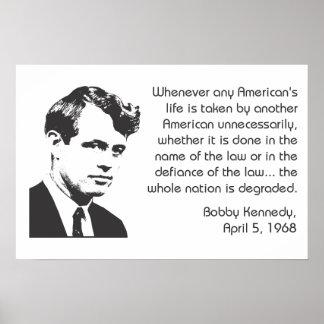 Poster del Nonviolence de Bobby Kennedy Póster