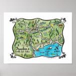 Poster del norte del mapa del lago Tahoe