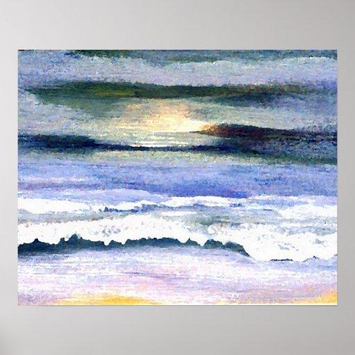 Poster del océano de CricketDiane - crepúsculo 2-1 Póster