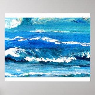 Poster del océano de CricketDiane - danza de la on