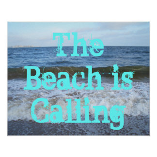 Poster del océano de CricketDiane - la playa está