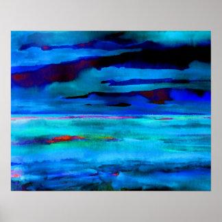 Poster del océano de CricketDiane - mar del azul d