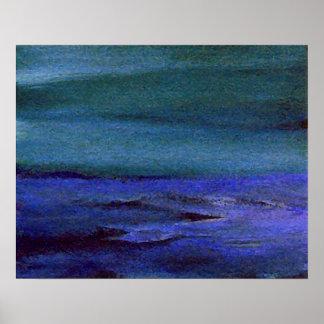 Poster del océano de CricketDiane - niebla
