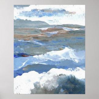 Poster del océano de CricketDiane - ninfas de mar