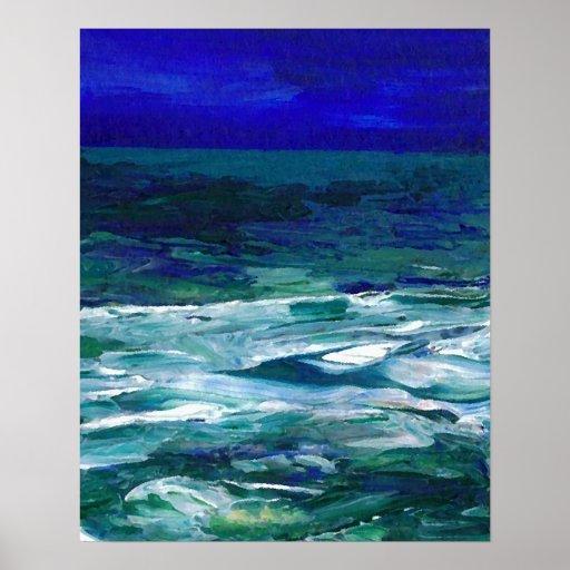 Poster del océano de CricketDiane - océano en el c