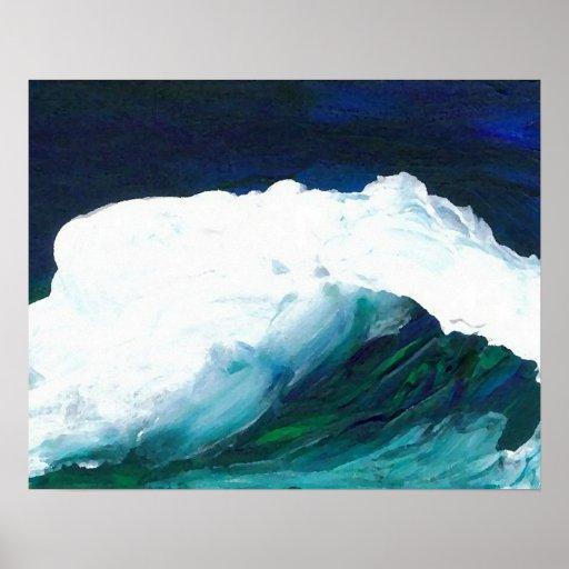 Poster del océano de CricketDiane - onda ideal