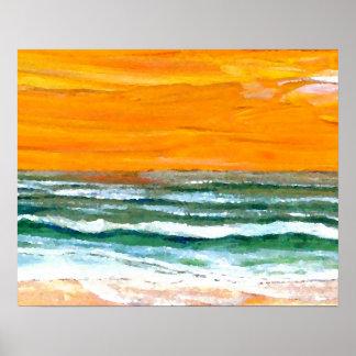 Poster del océano de CricketDiane - playa de las o