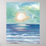 Poster del océano de CricketDiane - puesta del sol
