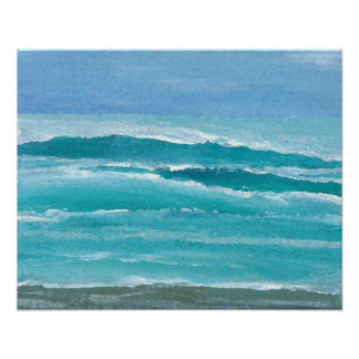 Poster del océano de CricketDiane - resaca apacibl