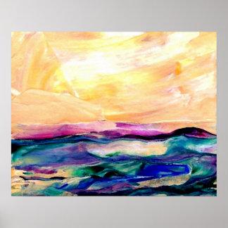 Poster del océano de CricketDiane - resplandor de