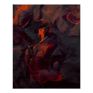 Poster del océano de CricketDiane - roca llameante