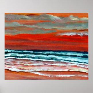 Poster del océano de CricketDiane - salida del sol